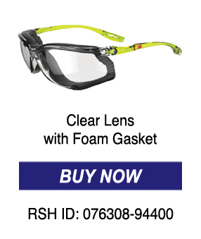 Clear Lens with Foam Gasket