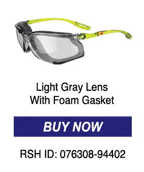 Light Gray Lens with Foam Gasket