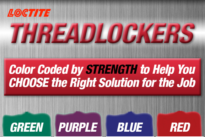Loctite Threadlockers, Colored Coded by Strength to Help You CHOOSE the Right Solution for the Job