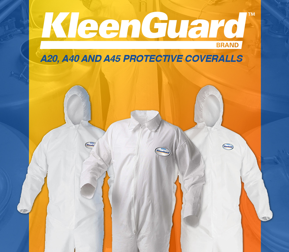 Kleenguard A20, A40 and A45 Protective Coveralls