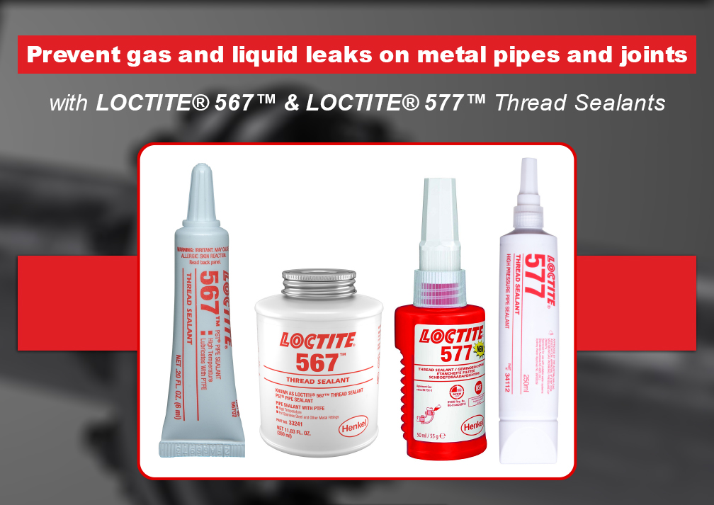 Prevent gas and liquid leaks on metal pipes and joints