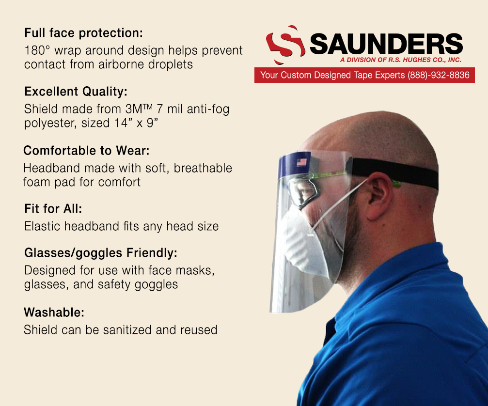 Saunders R.S. Hughes Exclusive Anti-Fog Face Shield