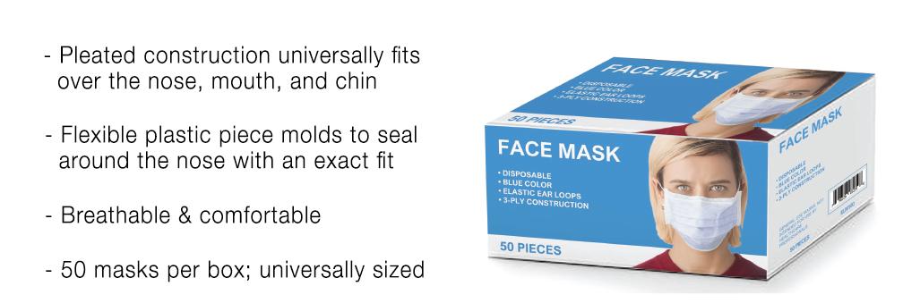 ELM100 Disposable Face Mask