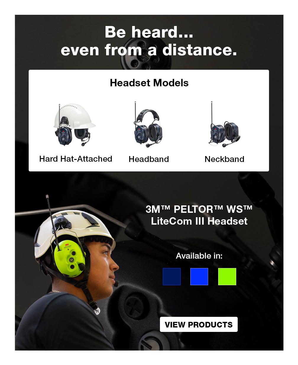 3M™ PELTOR™ WS™ LiteCom Pro III Headset