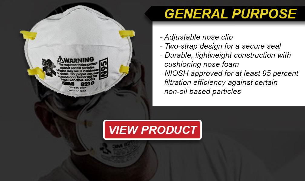 General purpose disposable respirators