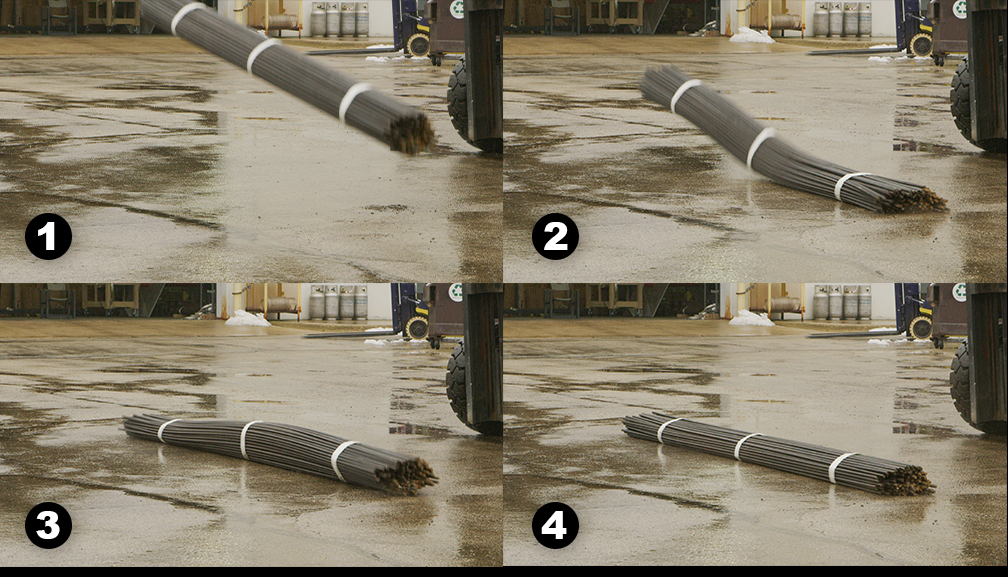 Rebar drop test images