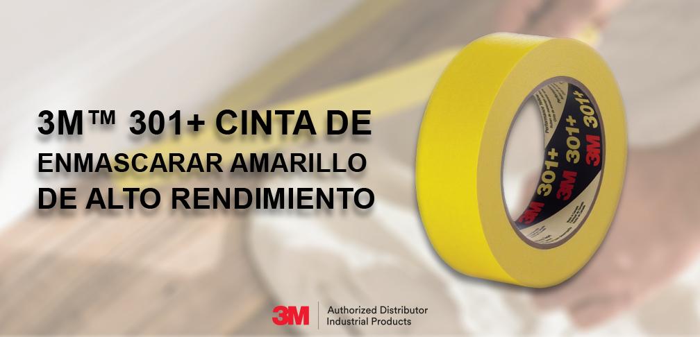 3M™ 301+ Cinta De Enmascarar Amarillo De Alto Rendimiento