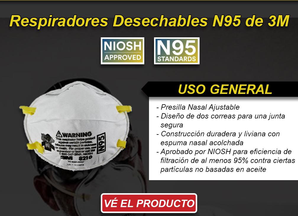 USO General - Respiradores Desechables N95 de 3M