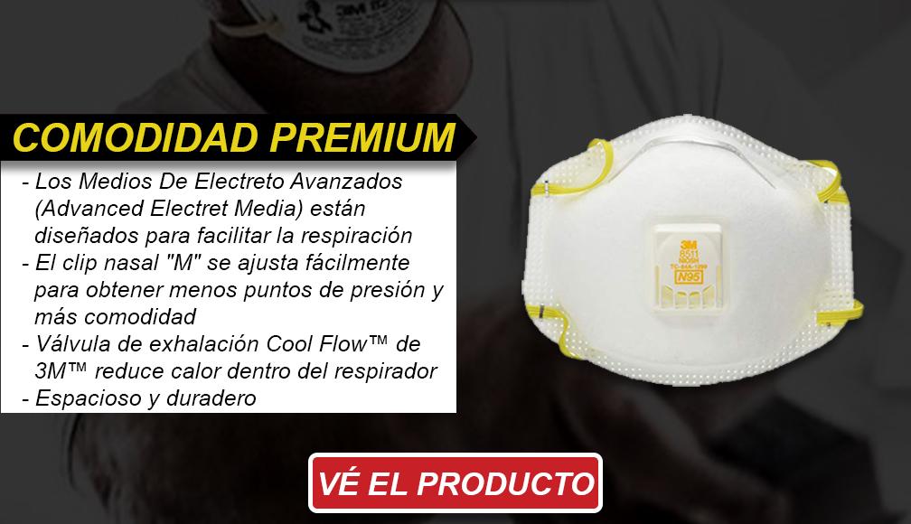 Comodidad premium - Respiradores Desechables N95 de 3M