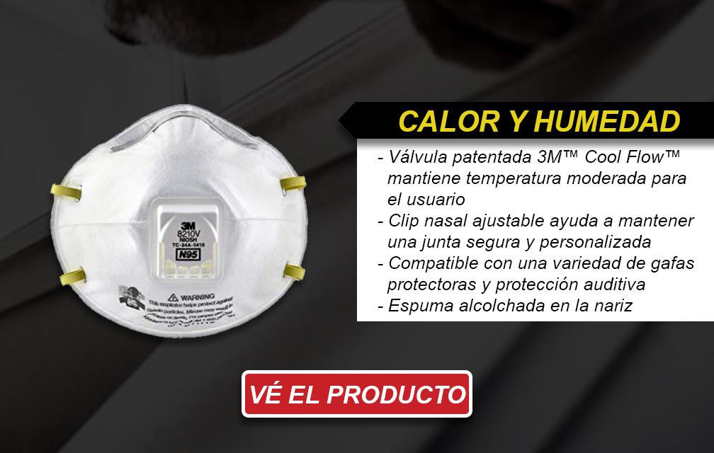 Calor y humedad - Respiradores Desechables N95 de 3M