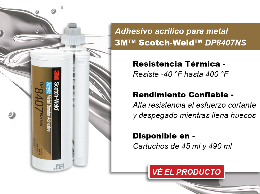 3M Scotch-WEld Metal Bonder Acrylic Adhesive DP8407NS - View Product